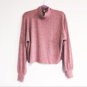 Express One Eleven mock turtleneck waffle sweater